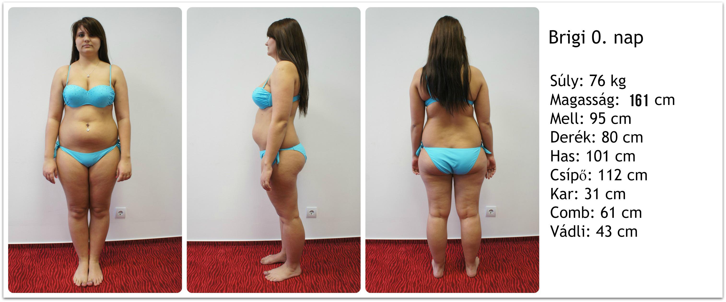 a test alakja megváltozik, de nincs fogyás