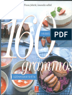 160 grammos szénhidrát diéta könyv letöltés