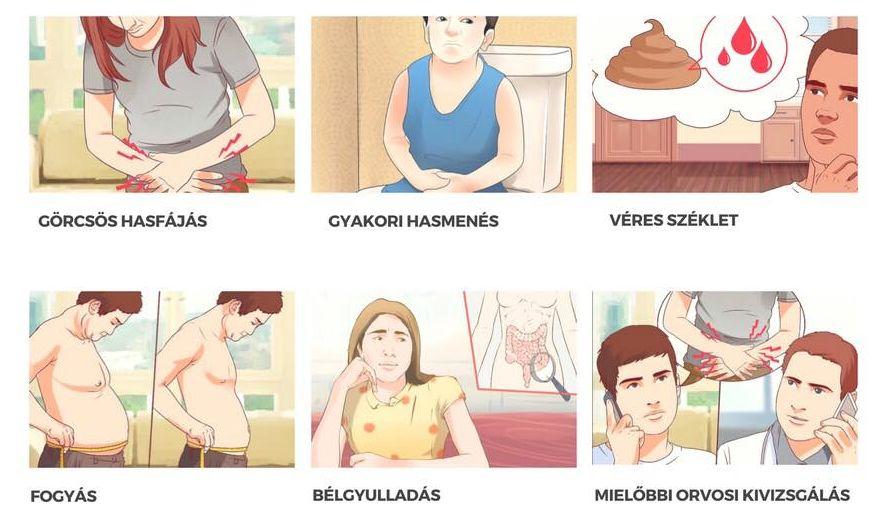 hasmenés és fogyás tünetei